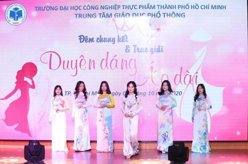 Dương Ngọc Ánh đăng quang Hoa khôi Duyên dáng Áo dài 2020 HUFI